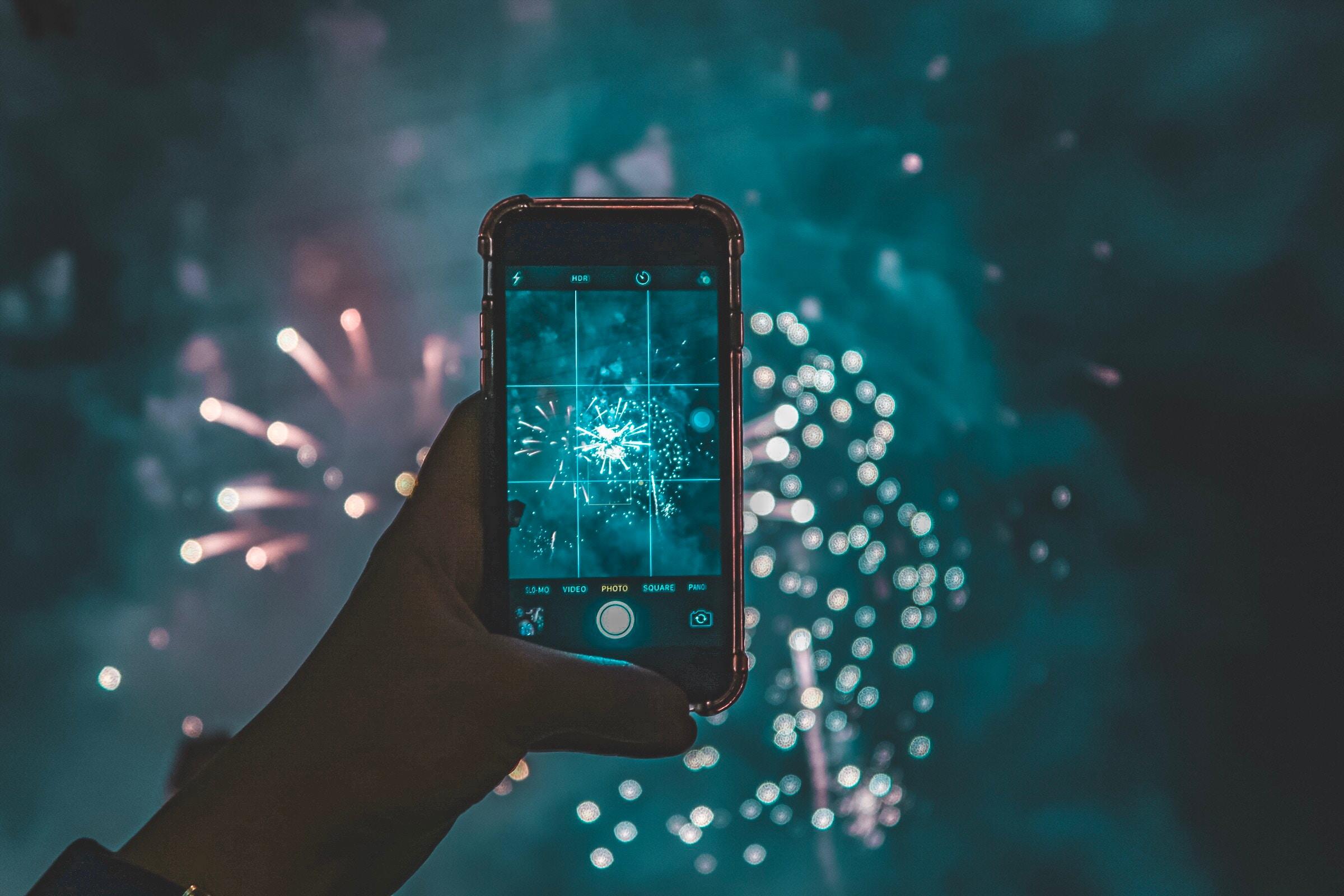 Feuerwerk Smartphone 2019